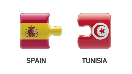 tunisie: Tunisia Spain High Resolution Puzzle Concept