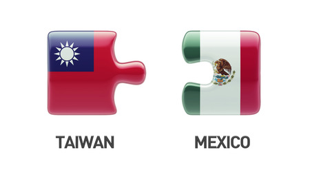 Taiwan Mexico High Resolution Puzzle Concept photo