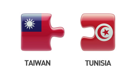 tunisie: Tunisia Taiwan High Resolution Puzzle Concept