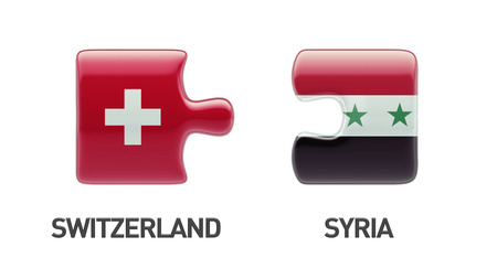 Syria Switzerland High Resolution Puzzle Concept photo