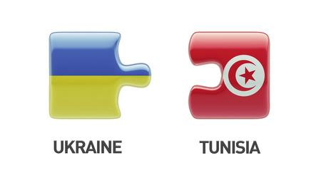 tunisie: Tunisia Ukraine High Resolution Puzzle Concept Stock Photo