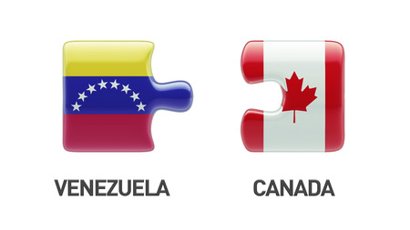 Venezuela Canada High Resolution Puzzle Concept photo