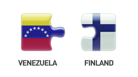 Venezuela Finland High Resolution Puzzle Concept photo