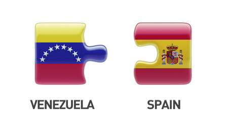 Venezuela Spain High Resolution Puzzle Concept photo