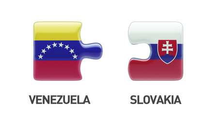 Slovakia Venezuela High Resolution Puzzle Concept photo