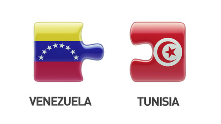 tunisie: Tunisia Venezuela High Resolution Puzzle Concept Stock Photo