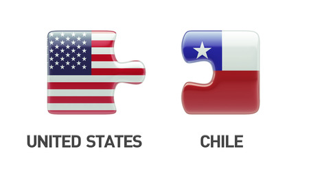 United States Chile High Resolution Puzzle Concept photo