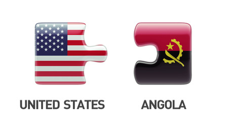 United States Angola High Resolution Puzzle Concept photo