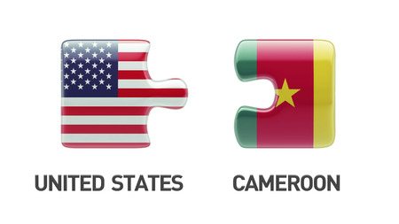 United States Cameroon High Resolution Countries Puzzle Concept photo