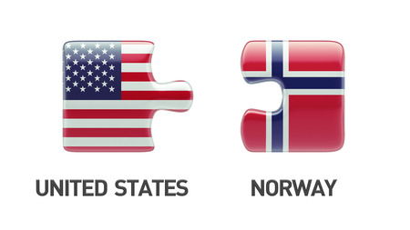 Norway United States High Resolution Puzzle Concept photo