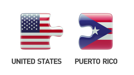 Puerto Rico United States High Resolution Puzzle Concept photo