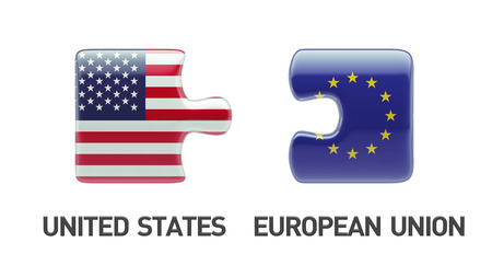 European Union United States High Resolution Puzzle Concept photo