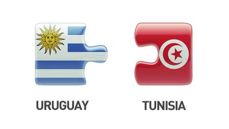 tunisie: Tunisia Uruguay High Resolution Puzzle Concept Stock Photo
