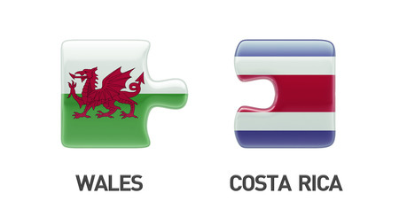 Wales Costa Rica High Resolution Puzzle Concept photo