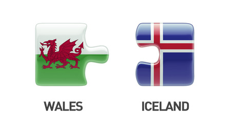 Iceland Wales High Resolution Puzzle Concept photo