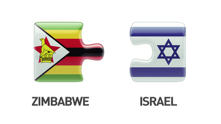 Zimbabwe Israel High Resolution Puzzle Concept photo