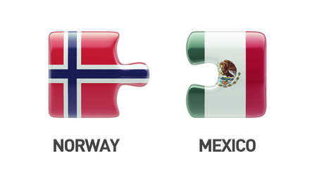 Norway Mexico High Resolution Puzzle Concept photo