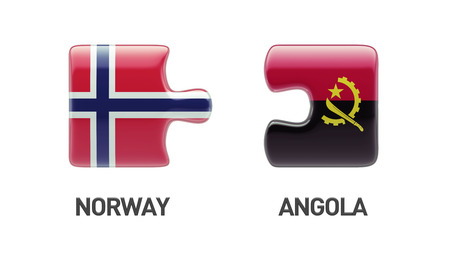 Norway Angola High Resolution Puzzle Concept photo
