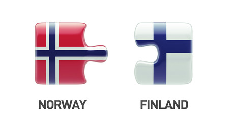 Norway Finland High Resolution Puzzle Concept photo