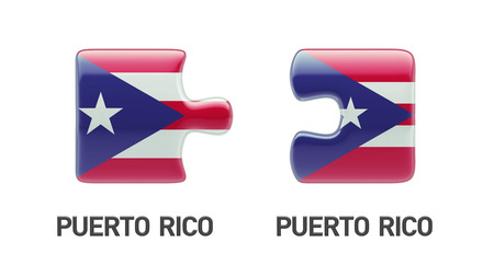 puerto rican flag: Puerto Rico High Resolution Puzzle Concept