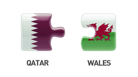 Qatar Wales High Resolution Puzzle Concept photo