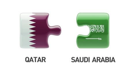 Saudi Arabia Qatar High Resolution Puzzle Concept photo