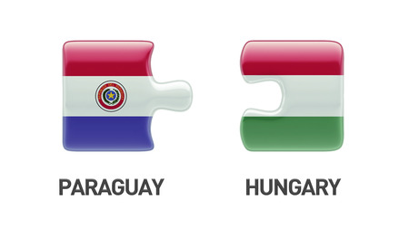 Paraguay Hungary High Resolution Puzzle Concept photo