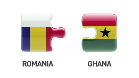 Romania Ghana High Resolution Puzzle Concept photo
