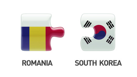 Romania South Korea Countries High Resolution Puzzle Concept photo