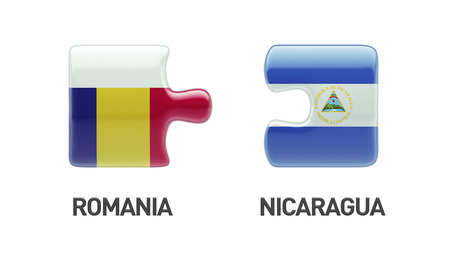 Romania Nicaragua High Resolution Puzzle Concept photo