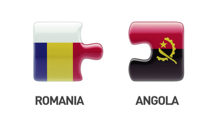 Romania Angola High Resolution Puzzle Concept photo