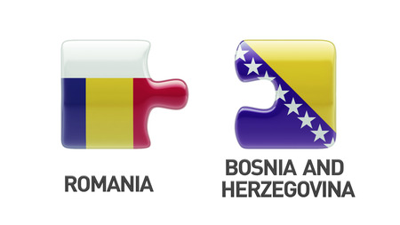 Romania Bosnia and Herzegovina High Resolution Puzzle Concept photo