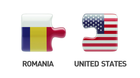 Romania United States High Resolution Puzzle Concept photo