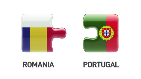 Romania Portugal High Resolution Puzzle Concept photo