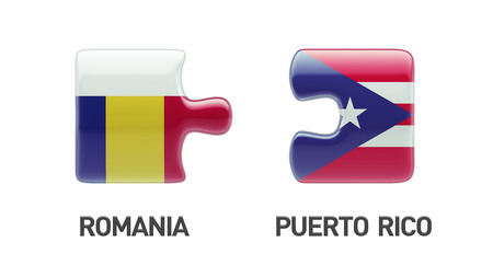 Romania Puerto Rico High Resolution Puzzle Concept photo