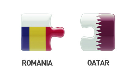 Romania Qatar High Resolution Puzzle Concept photo