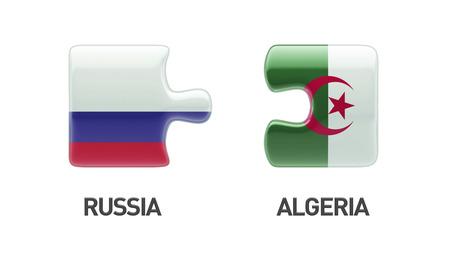 algerian flag: Russia Algeria High Resolution Puzzle Concept