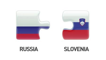 Slovenia Russia High Resolution Puzzle Concept