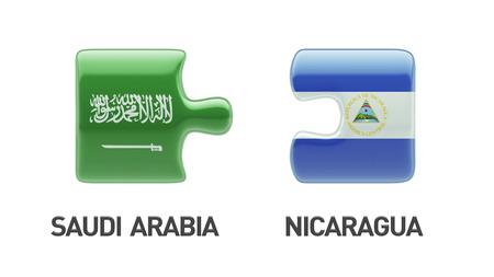Saudi Arabia Nicaragua High Resolution Puzzle Concept photo