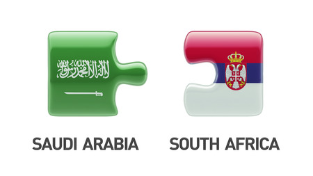 Serbia Saudi Arabia High Resolution Puzzle Concept photo