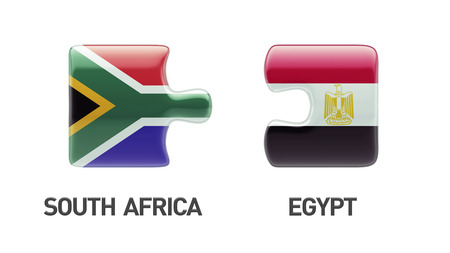 South Africa Egypt High Resolution Puzzle Concept photo
