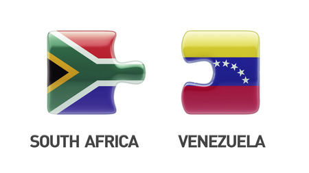 South Africa Venezuela High Resolution Puzzle Concept photo