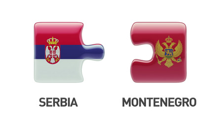 serbia and montenegro: Serbia Montenegro High Resolution Puzzle Concept