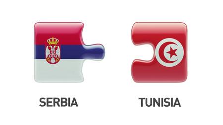 tunisie: Tunisia Serbia High Resolution Puzzle Concept