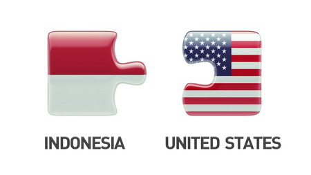 Indonesia United States High Resolution Puzzle Concept Banco de Imagens - 29123808