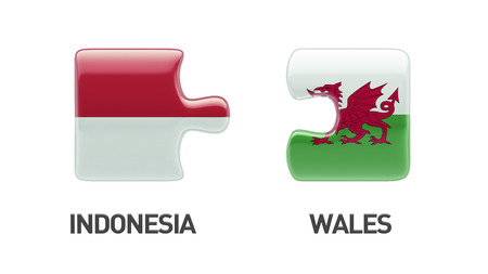 Indonesia Wales High Resolution Puzzle Concept photo