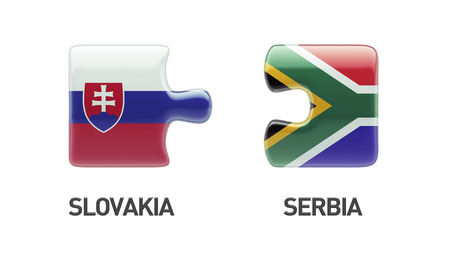 slovakian: Slovakia South Africa High Resolution Puzzle Concept Stock Photo