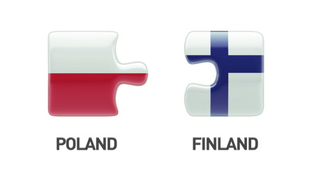 Poland Finland High Resolution Puzzle Concept photo