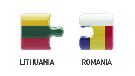 Lithuania Romania High Resolution Puzzle Concept photo