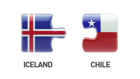 Iceland Chile High Resolution Puzzle Concept photo